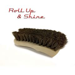 Roll Up & Shine Deluxe Horse Hair Leather Care Brush